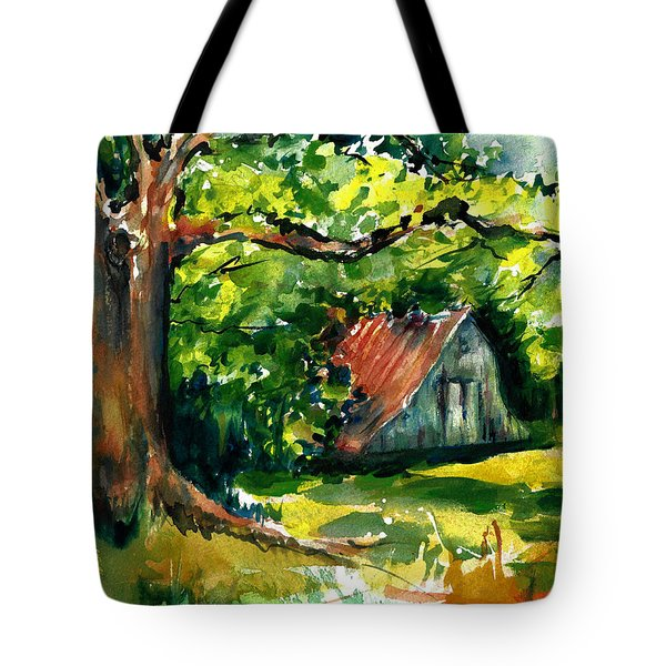 Ozarks Barn In Boxley Valley - Late Summer Tote Bag