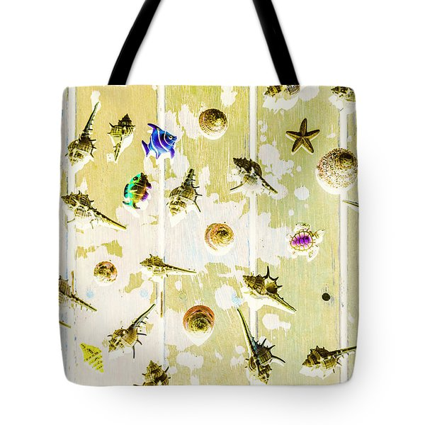 Pacific Planks Tote Bag