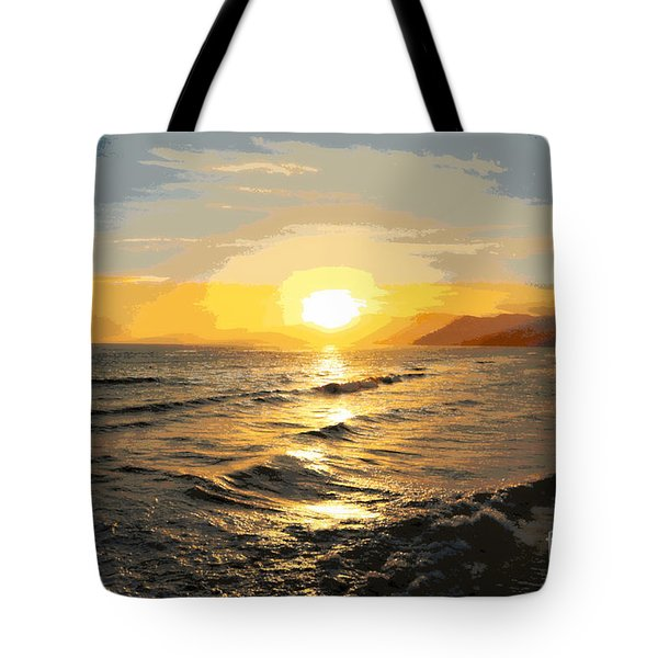 Pacific Sunset Impressionism, Santa Monica, California Tote Bag