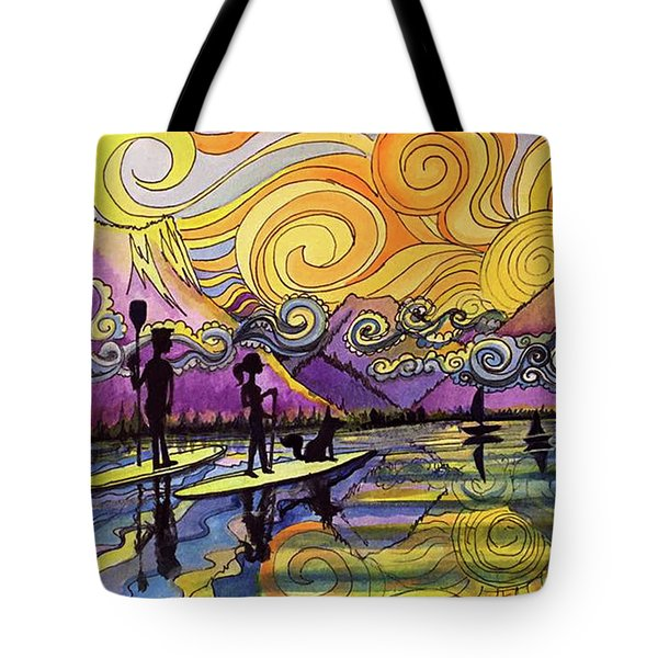 Paddleboarders Frisco Colorado Tote Bag