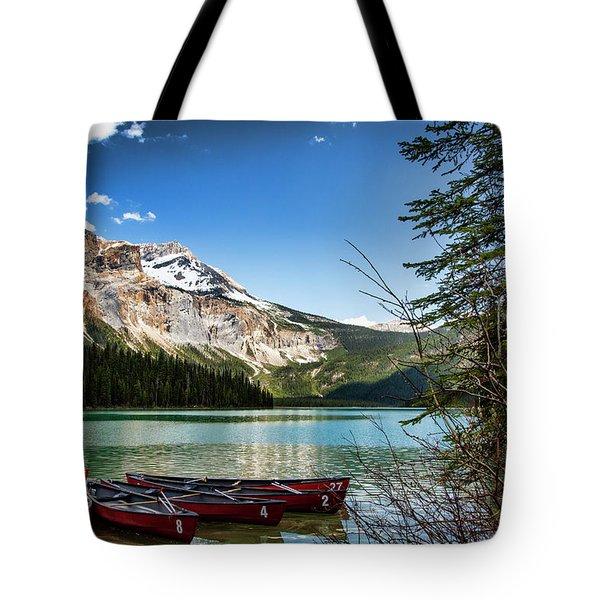 Paddles For Emerald Lake Tote Bag