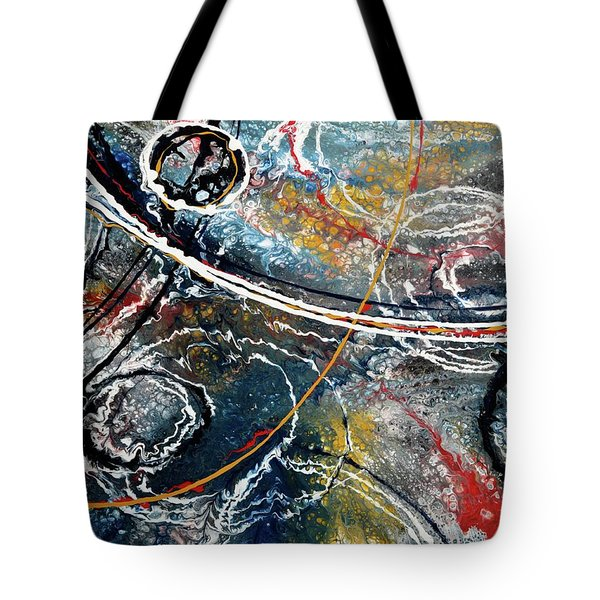Paint Puddles Tote Bag
