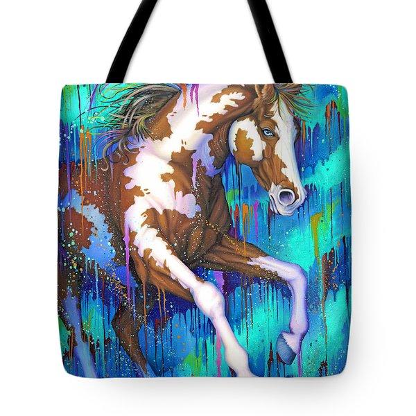 Paint Running Wild Tote Bag