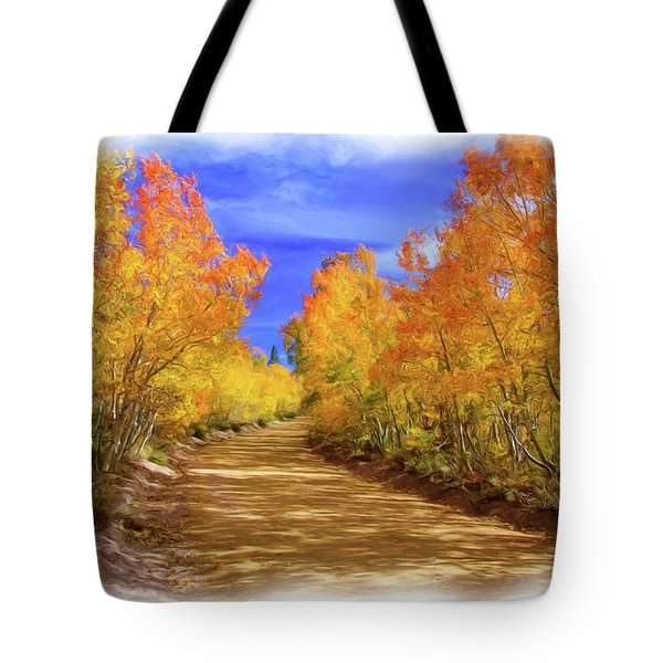 Painted Aspens Tote Bag