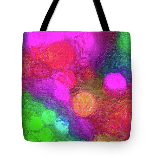 Painted Bokeh Impasto Pinkish Purple Tote Bag