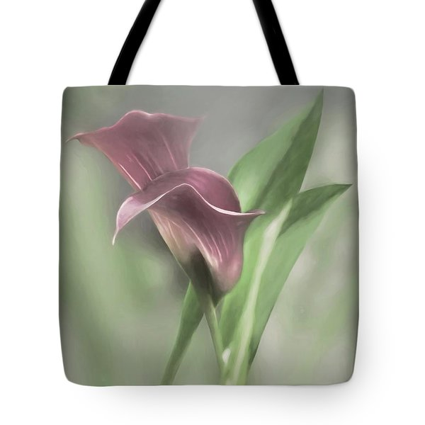 Painted Calla Lily Tote Bag