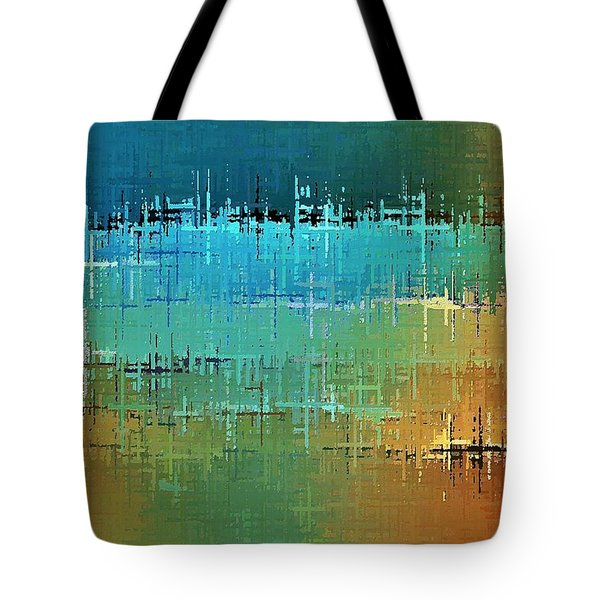 Tote Bag featuring the digital art Painted Desert by David Manlove