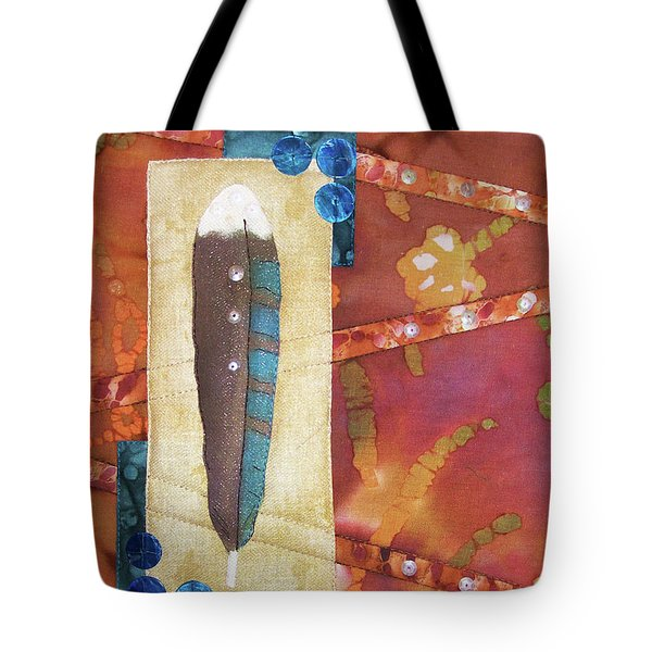 Painted Feather Tote Bag