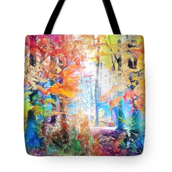Tote Bag featuring the painting Painted Forest by Chris Armytage