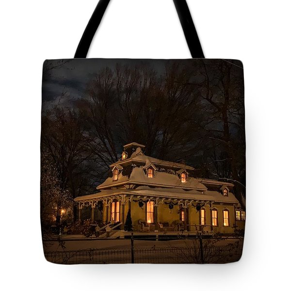 Tote Bag featuring the photograph Painted Lady In Winter by Kendall McKernon