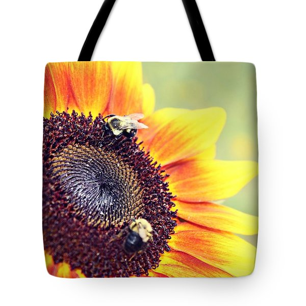 Tote Bag featuring the photograph Painted Sun by Candice Trimble