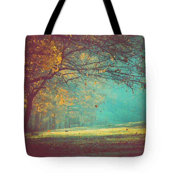 Painted Sunrise Tote Bag