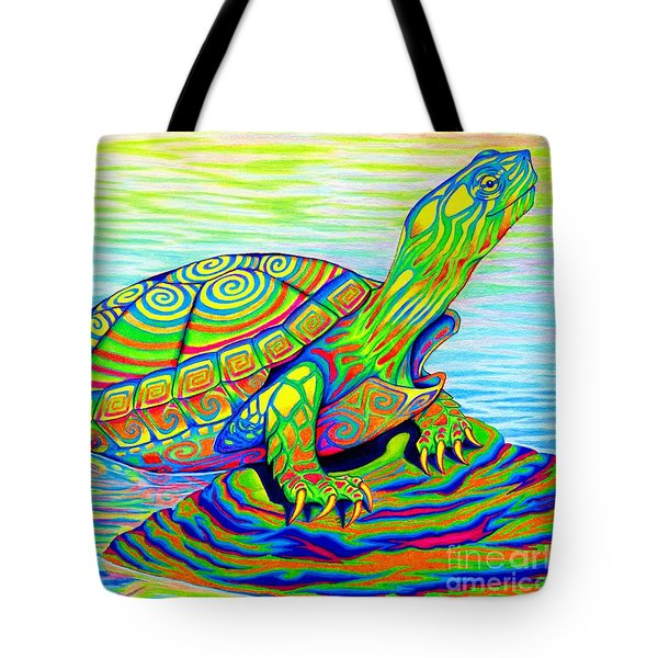 Painted Turtle Tote Bag