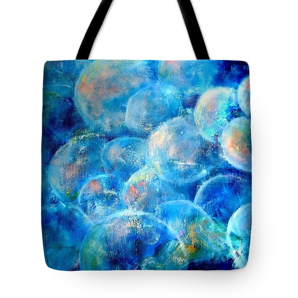 Tote Bag featuring the painting Painterly Bubbles by VIVA Anderson