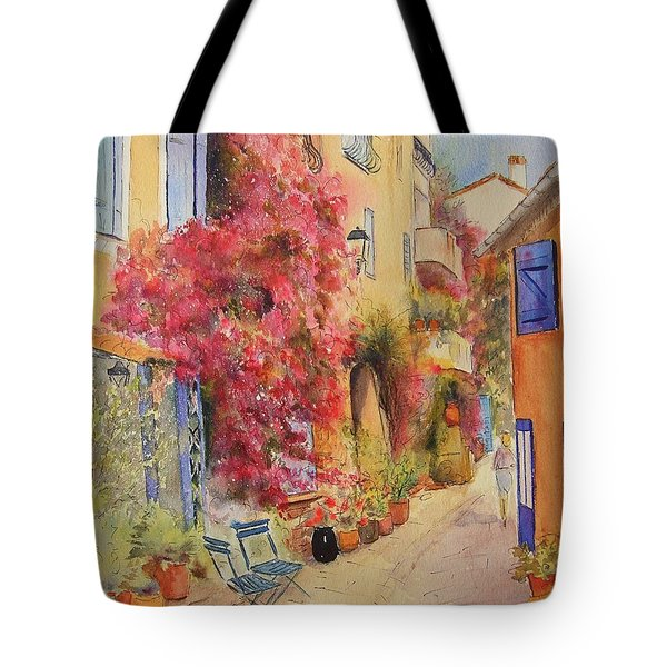 Painting Of Grimauld Village France Tote Bag