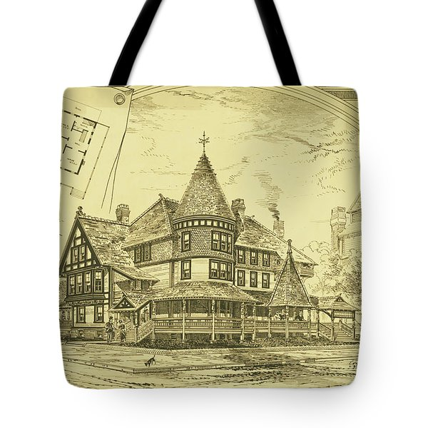 Pair Of Twin Cottages, Hastings Square, Spring Lake, Nj Tote Bag