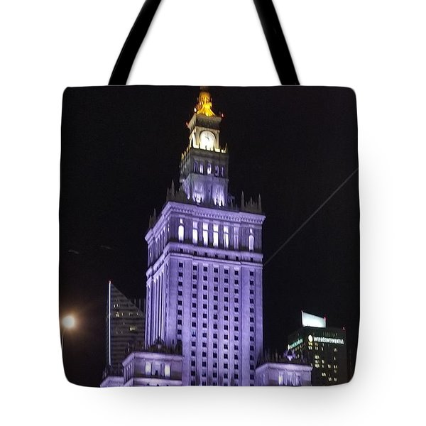 Palace  Of Culture And Science  Tote Bag