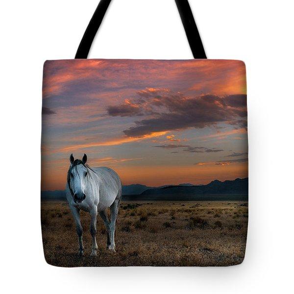 Pale Horse Tote Bag