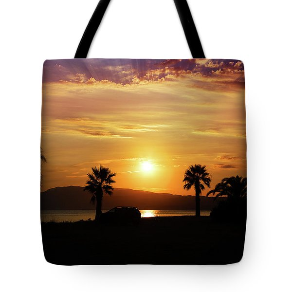 Tote Bag featuring the photograph Palm Beach In Greece by Milena Ilieva