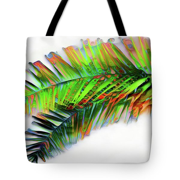 Tote Bag featuring the digital art Palm Leaf by Pennie McCracken
