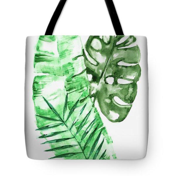 Palm Leaves-banana, Coconut, Monstera Tote Bag