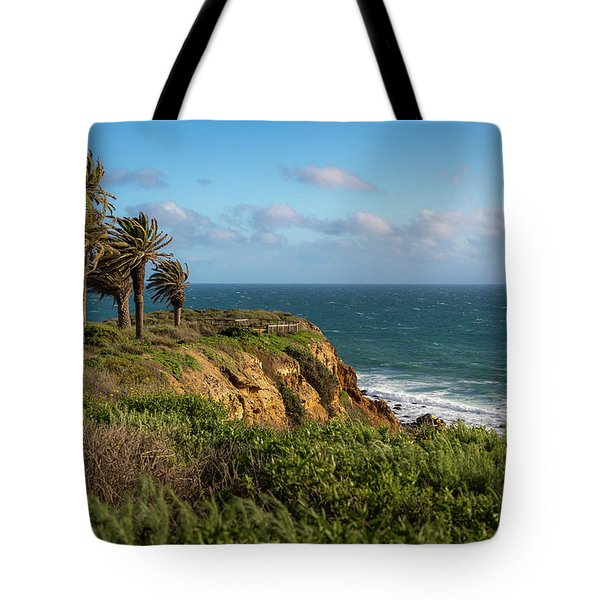 Palm Trees Blowing In The Wind Tote Bag