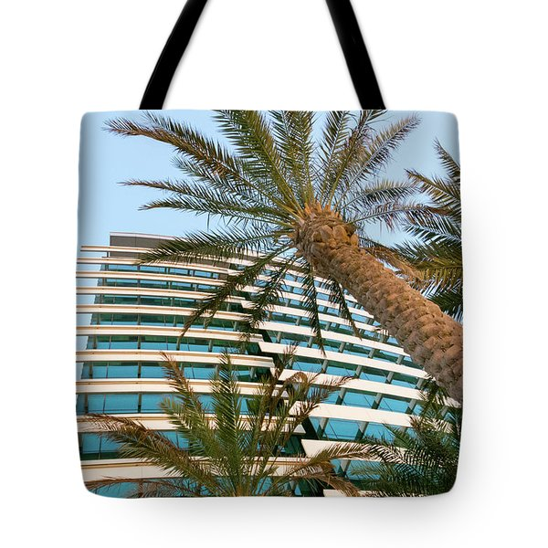 Tote Bag featuring the photograph Palms Of Dubai by SR Green