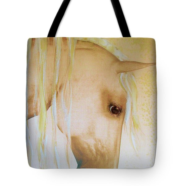 Tote Bag featuring the painting Palomino Head Study by Valerie Anne Kelly