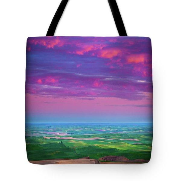 Palouse Fiery Dawn Tote Bag