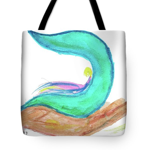Tote Bag featuring the painting Pam Of The Hand Ca2 by Hebrewletters Sl