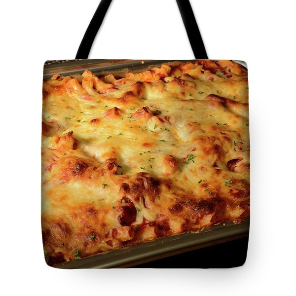 Pan Of Baked Ziti Tote Bag