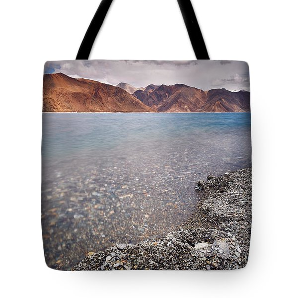 Tote Bag featuring the photograph Pangong Tso by Whitney Goodey