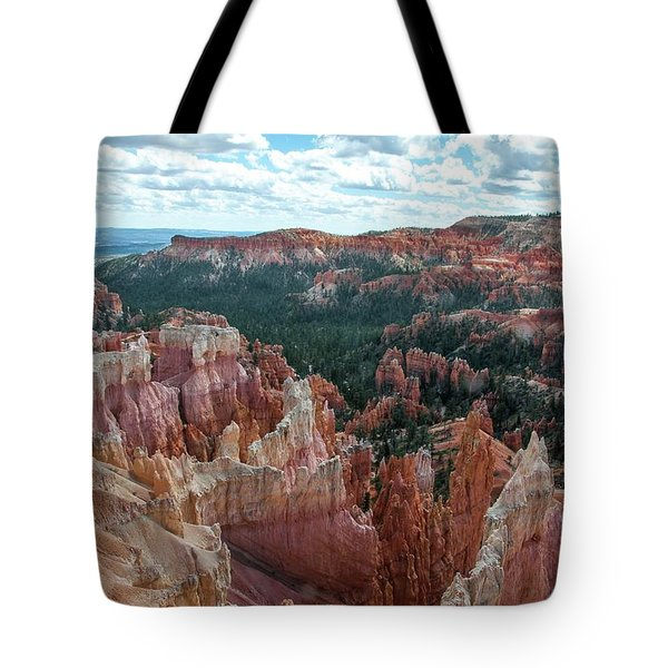 Panorama  From The Rim, Bryce Canyon  Tote Bag