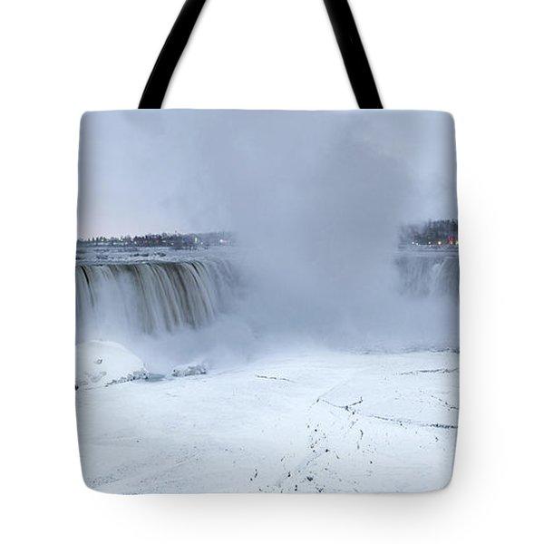 Panoramic View Niagara Falls Tote Bag
