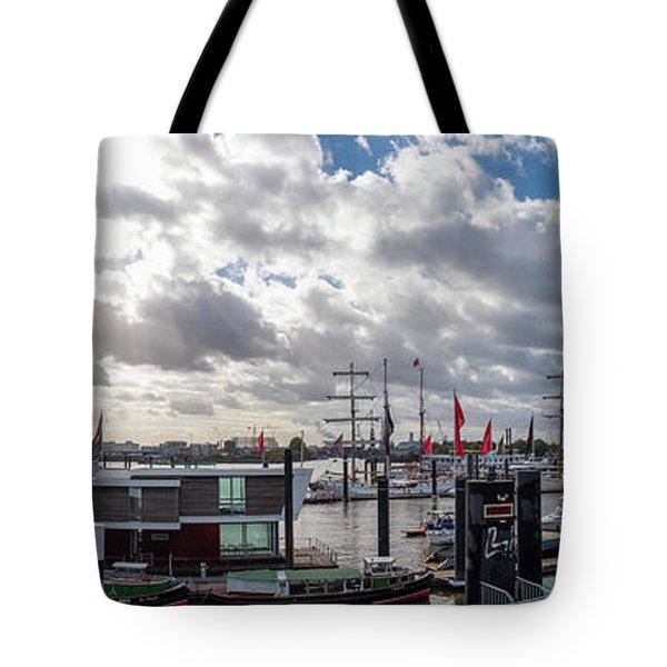 Panoramic View Of Hamburg Tote Bag