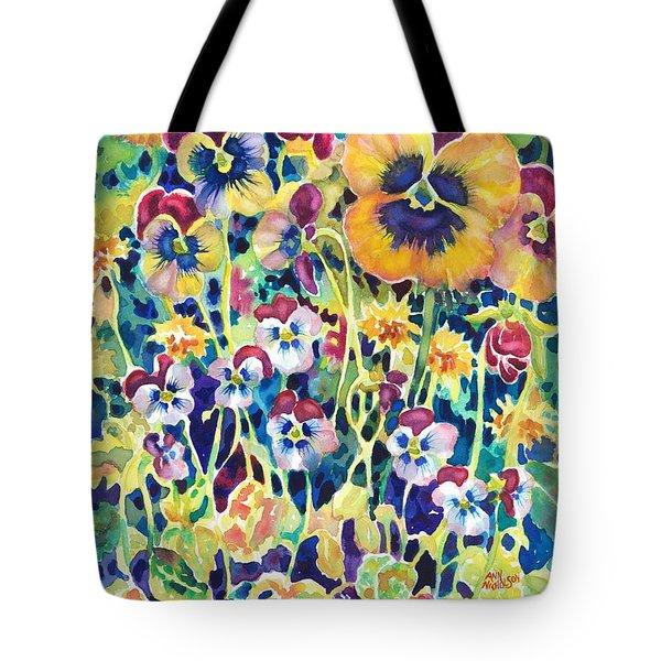 Pansies And Violas Tote Bag
