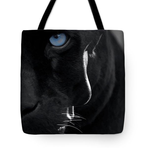 Tote Bag featuring the digital art Pantheress by ISAW Company