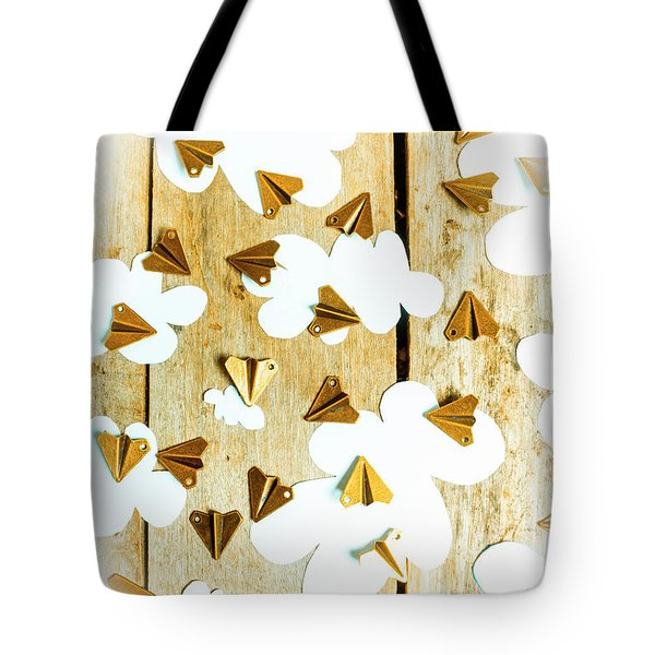 Paper Clouds And Metal Planes Tote Bag