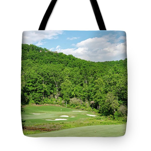 Tote Bag featuring the photograph Par 3 Hole 16 by Claire Turner
