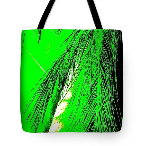 Tote Bag featuring the photograph Paradise Palms Green by VIVA Anderson
