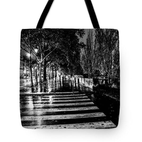 Paris At Night - Quai Voltaire Tote Bag
