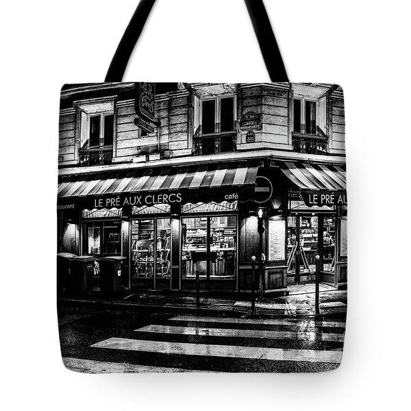 Paris At Night - Rue Bonaparte Tote Bag