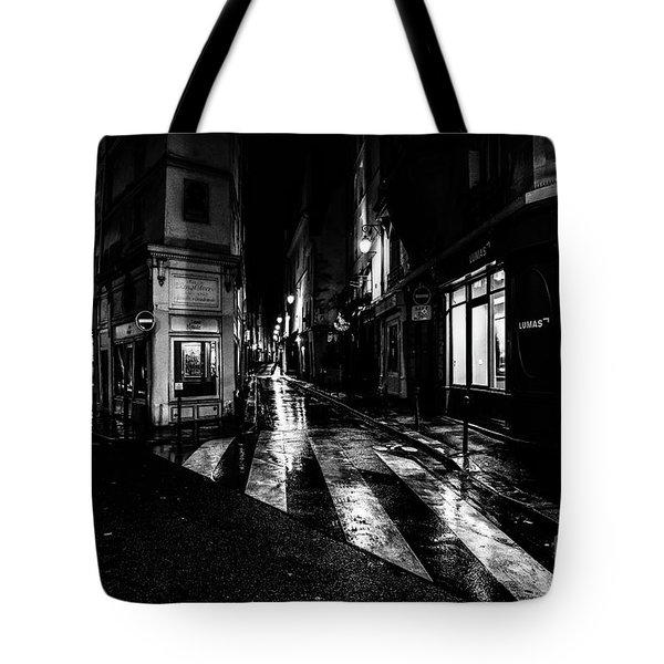 Paris At Night - Rue De Seine Tote Bag