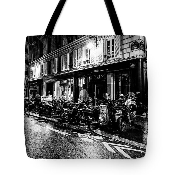 Paris At Night - Rue Jacob Tote Bag