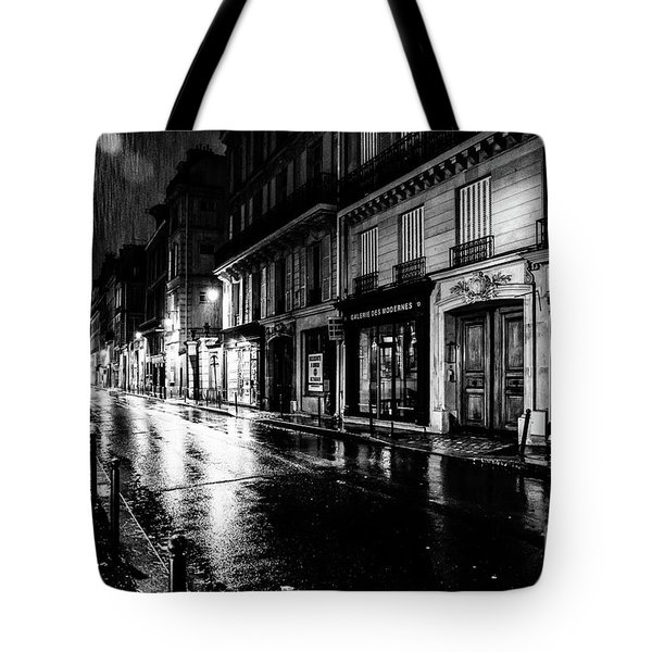 Paris At Night - Rue Saints Peres Tote Bag