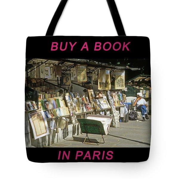 Paris Bookseller Tote Bag