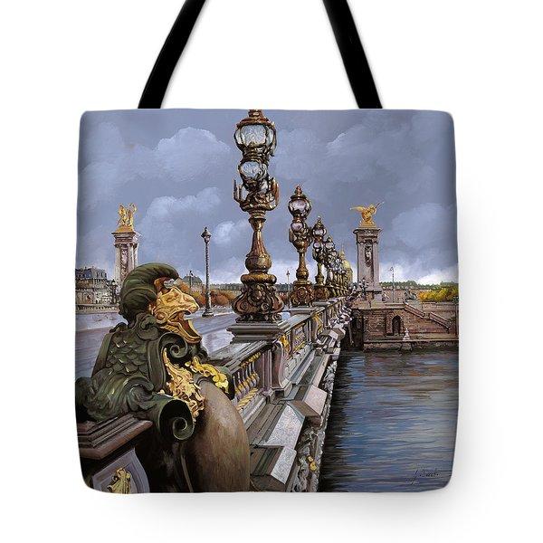 Paris-pont Alexandre Terzo Tote Bag