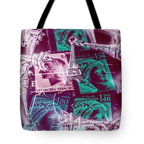 Parisian Postmarks Tote Bag