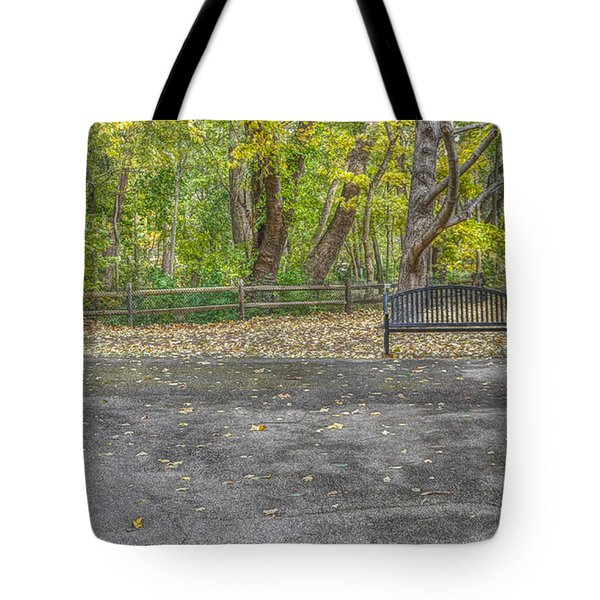 Park Bench @ Sharon Woods Tote Bag