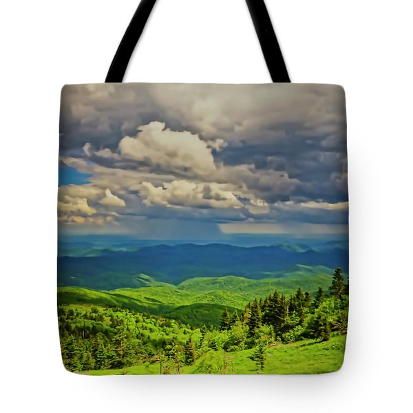 Tote Bag featuring the photograph Parkway View by Meta Gatschenberger